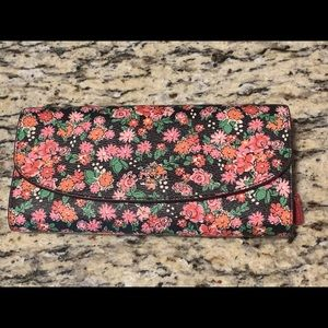 Coach leather floral wallet-
